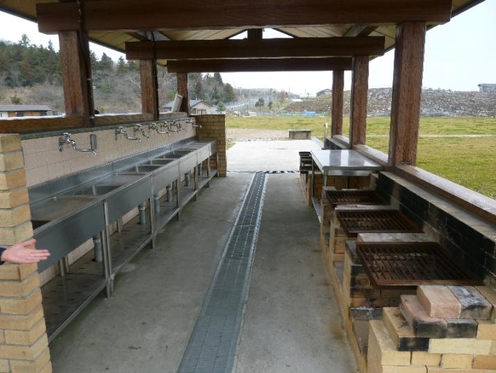 平尾台自然の郷キャンプ場の炊事場